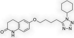 cilostazol - molecuulstructuur