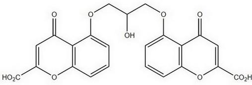 cromoglicinezuur - chemische structuur