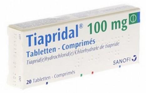 verpakking Tiapridal (tiapride) tabletten