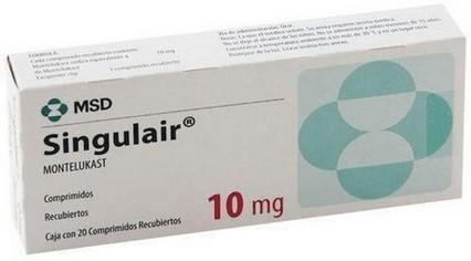 verpakking Singulair (montelukast) tabletten
