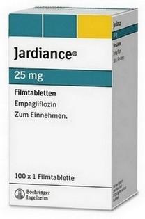 verpakking Jardiance (empagliflozine) 25 mg tabletten - bron: Boehringer-Ingelheim