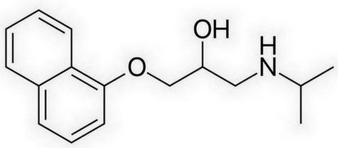 propranolol - chemische structuur