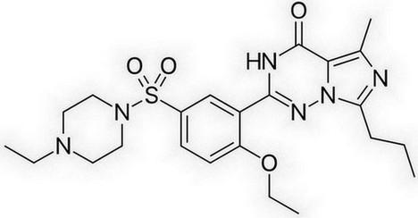 vardenafil - chemische structuur
