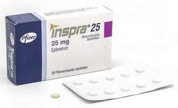 verpakking Inspra (eplerenon) 25 mg tabletten