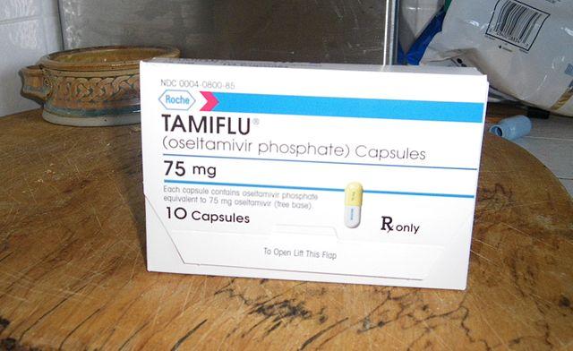 verpakking Tamiflu (oseltamivir) 75 mg capsules