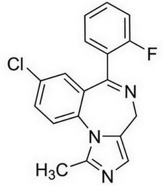 midazolam - chemische structuur