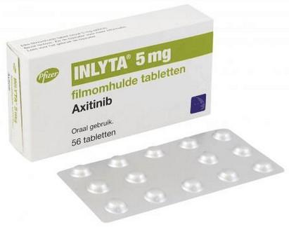 verpakking Inlyta (axitinib) tabletten
