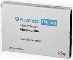 verpakking Verzenios (abemaciclib) 150 mg tabletten