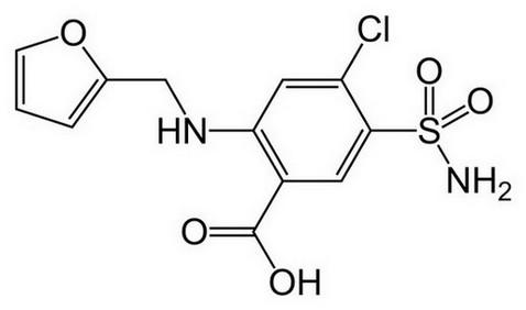 furosemide - chemische structuur