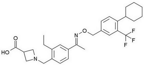 siponimod - chemische structuur