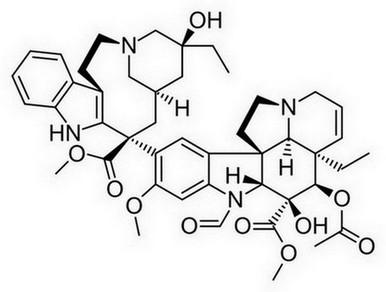 vincristine molecuulstructuur